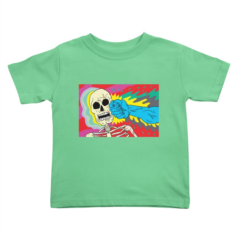 Punching Death Kids Toddler T-Shirt by anabenaroya's Artist Shop