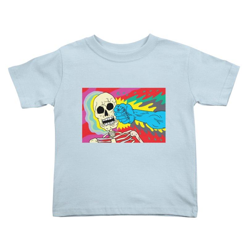 Punching Death Kids Toddler T-Shirt by anabenaroya's Artist Shop