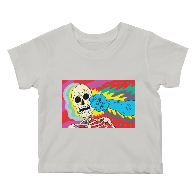 Punching Death Kids Baby T-Shirt by anabenaroya's Artist Shop