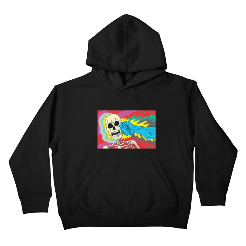 Punching Death Kids Pullover Hoody by anabenaroya's Artist Shop