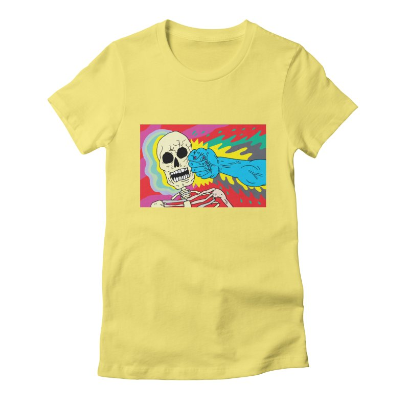 Punching Death Women's Fitted T-Shirt by anabenaroya's Artist Shop