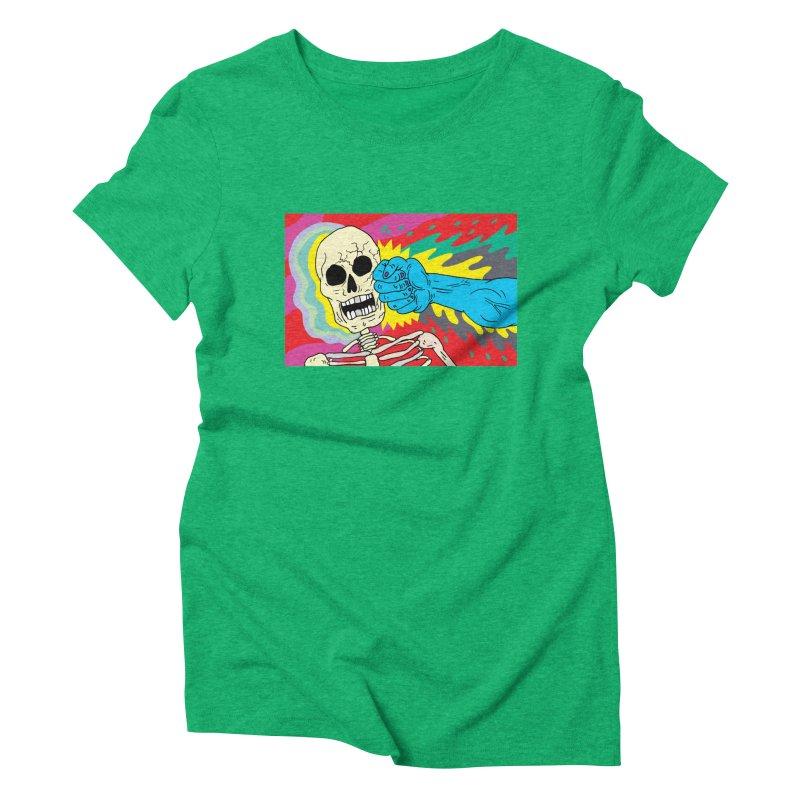 Punching Death Women's Triblend T-Shirt by anabenaroya's Artist Shop