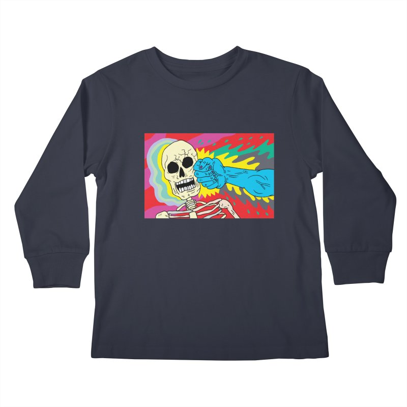 Punching Death Kids Longsleeve T-Shirt by anabenaroya's Artist Shop