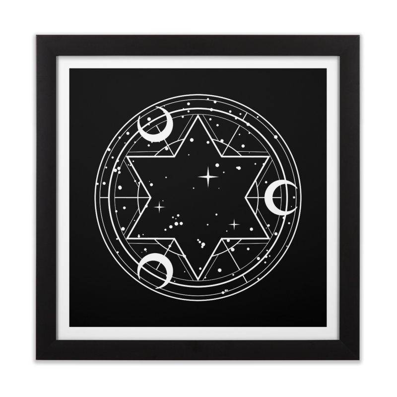 Three moons spell Home Framed Fine Art Print by Anaïs Faë
