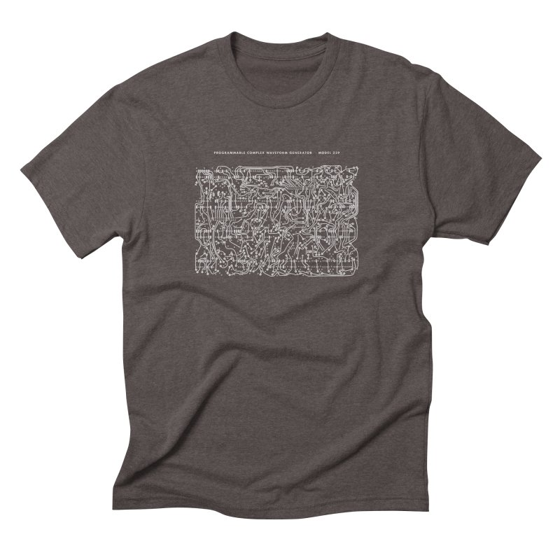 259 PCB (white) in Men's Triblend T-shirt Tri-Coffee by Grayscale