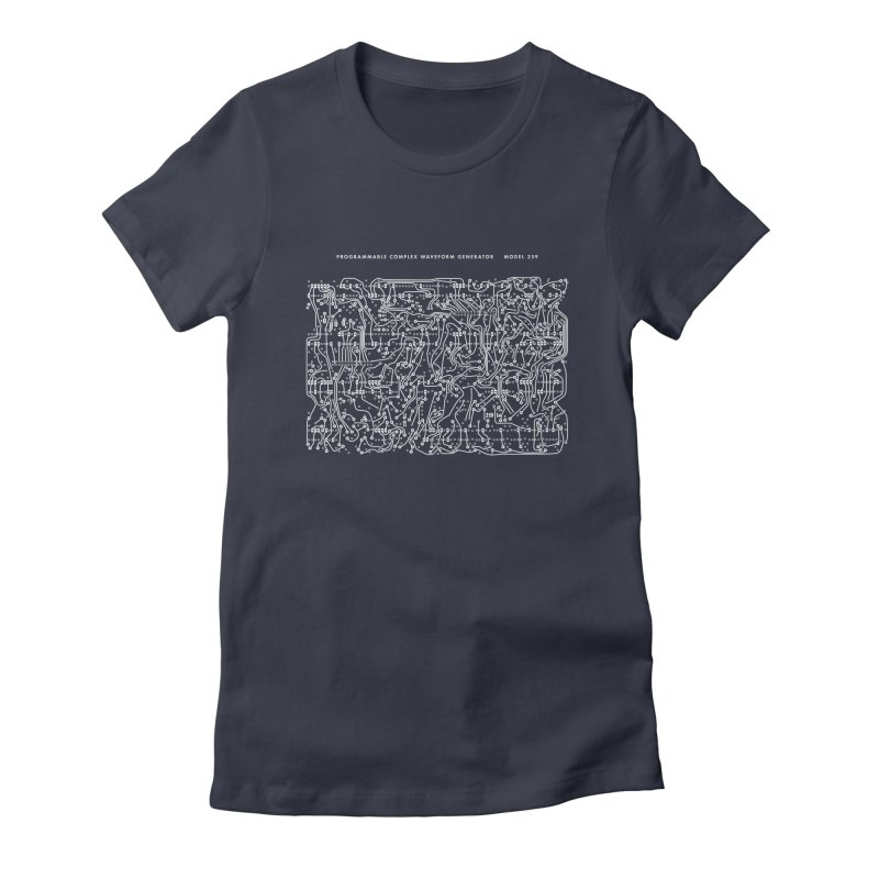 259 PCB (white) Women's Fitted T-Shirt by Grayscale