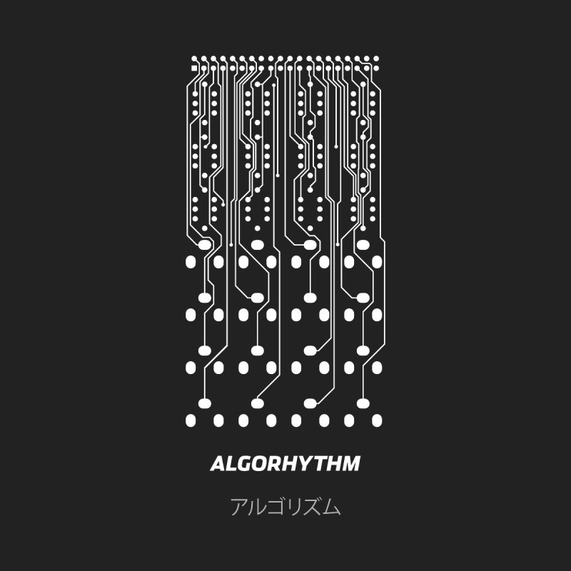 Grayscale Algorhythm PCB (white) by Grayscale