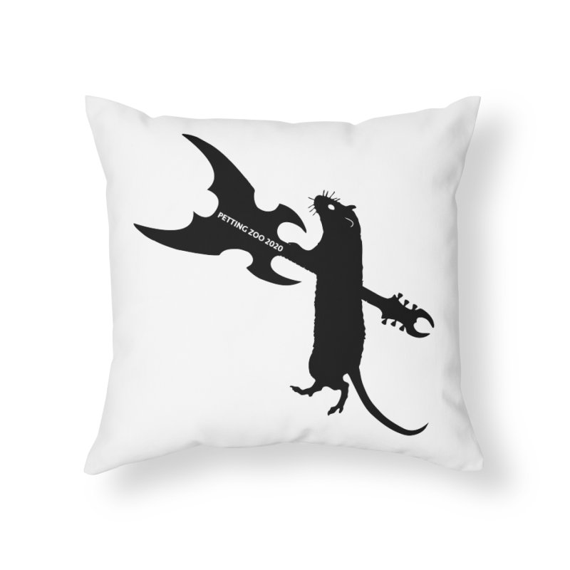 Petting Zoo 2020 Metal Rat 1 Home Throw Pillow by Anapalana by Tona Williams Artist Shop