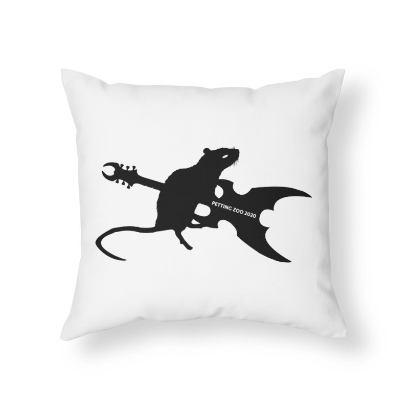 Petting Zoo 2020 Metal Rat 2 Home Throw Pillow by Anapalana by Tona Williams Artist Shop