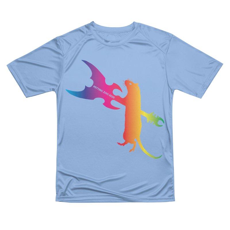 Petting Zoo 2020 Metal Rat 1 Rainbow Men's T-Shirt by Anapalana by Tona Williams Artist Shop