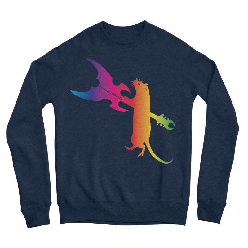 Petting Zoo 2020 Metal Rat 1 Rainbow Men's Sweatshirt by Anapalana by Tona Williams Artist Shop