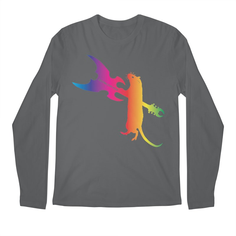 Petting Zoo 2020 Metal Rat 1 Rainbow Men's Longsleeve T-Shirt by Anapalana by Tona Williams Artist Shop
