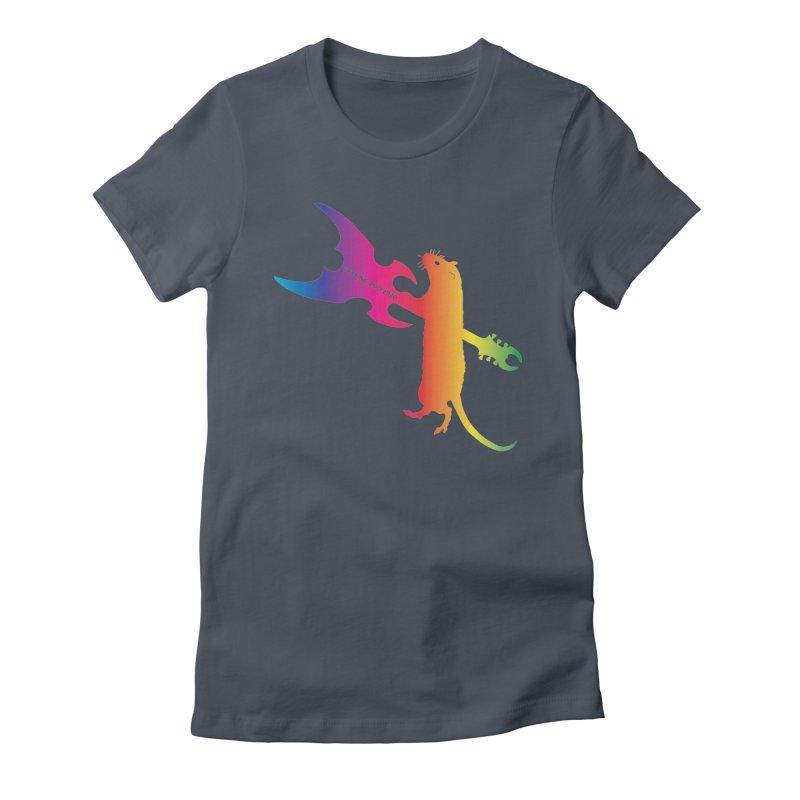 Petting Zoo 2020 Metal Rat 1 Rainbow Women's T-Shirt by Anapalana by Tona Williams Artist Shop