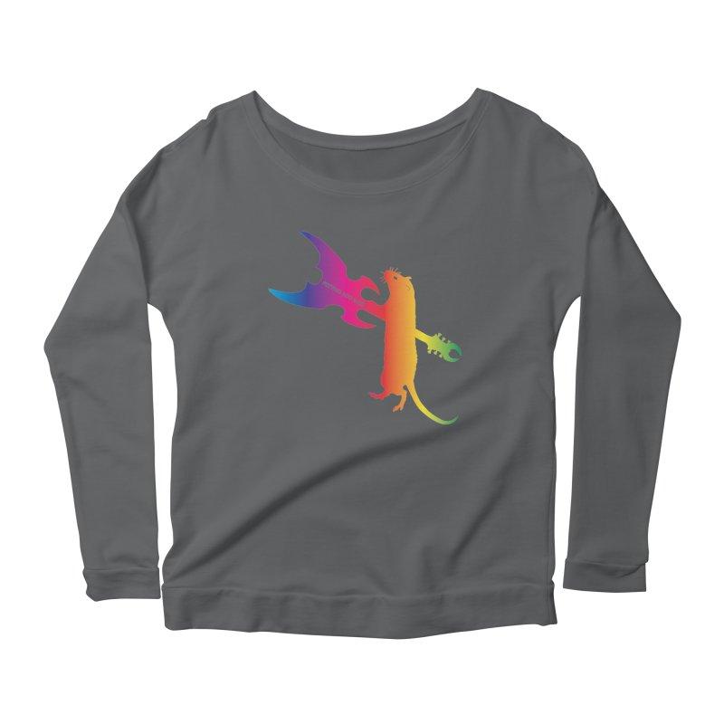 Petting Zoo 2020 Metal Rat 1 Rainbow Women's Longsleeve T-Shirt by Anapalana by Tona Williams Artist Shop