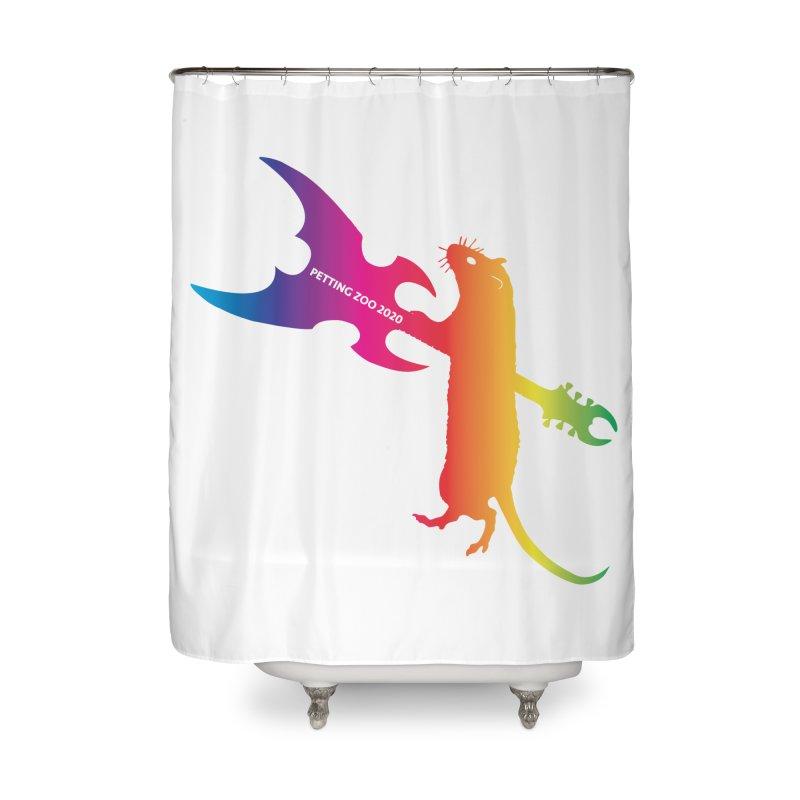 Petting Zoo 2020 Metal Rat 1 Rainbow Home Shower Curtain by Anapalana by Tona Williams Artist Shop