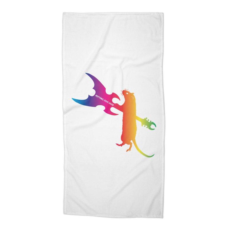 Petting Zoo 2020 Metal Rat 1 Rainbow Accessories Beach Towel by Anapalana by Tona Williams Artist Shop