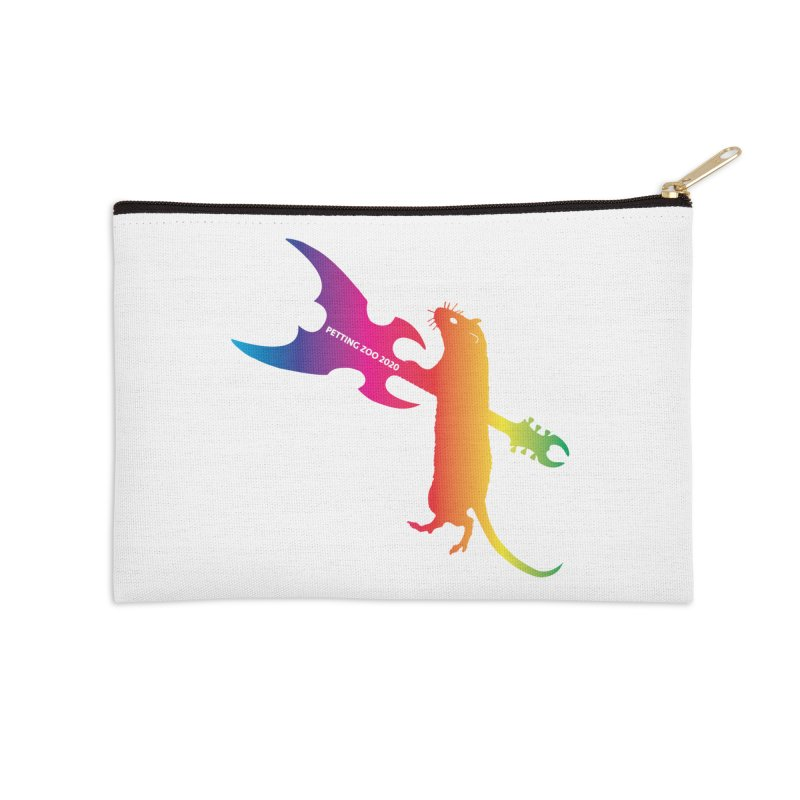 Petting Zoo 2020 Metal Rat 1 Rainbow Accessories Zip Pouch by Anapalana by Tona Williams Artist Shop