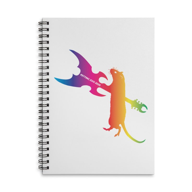 Petting Zoo 2020 Metal Rat 1 Rainbow Accessories Notebook by Anapalana by Tona Williams Artist Shop