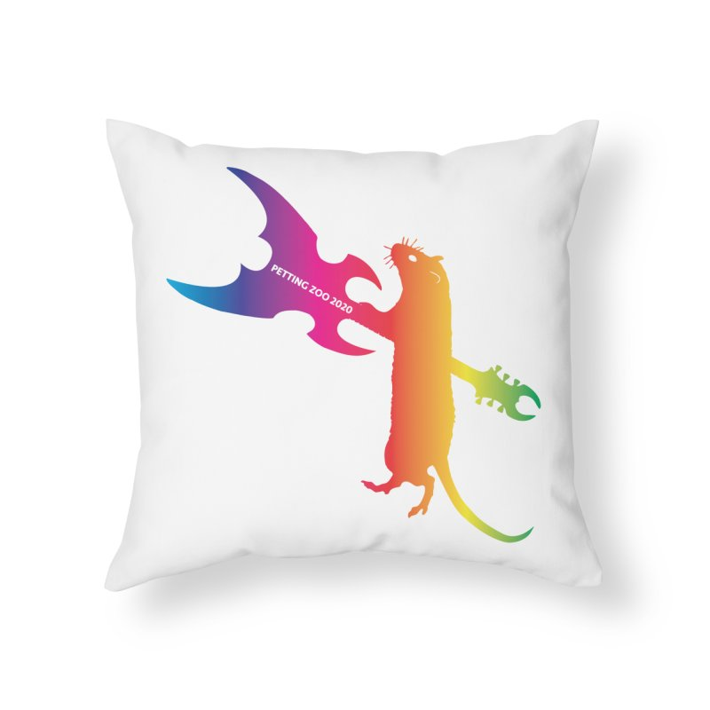 Petting Zoo 2020 Metal Rat 1 Rainbow Home Throw Pillow by Anapalana by Tona Williams Artist Shop