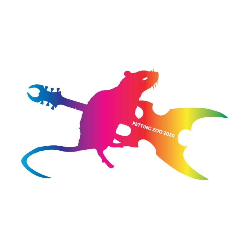 Petting Zoo 2020 Metal Rat 2 Rainbow Home Mounted Aluminum Print by Anapalana by Tona Williams Artist Shop