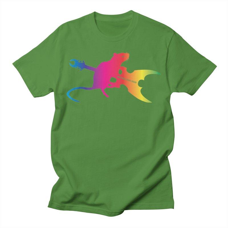 Petting Zoo 2020 Metal Rat 2 Rainbow Men's T-Shirt by Anapalana by Tona Williams Artist Shop