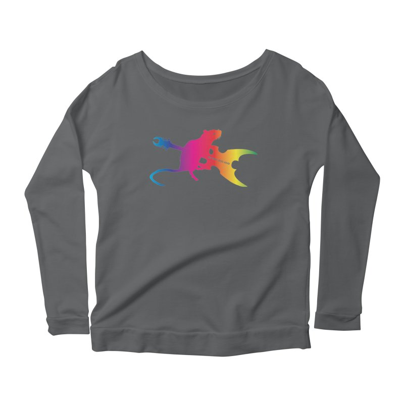 Petting Zoo 2020 Metal Rat 2 Rainbow Women's Longsleeve T-Shirt by Anapalana by Tona Williams Artist Shop