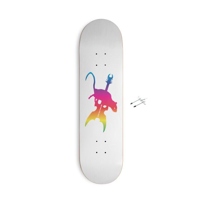 Petting Zoo 2020 Metal Rat 2 Rainbow Accessories Skateboard by Anapalana by Tona Williams Artist Shop