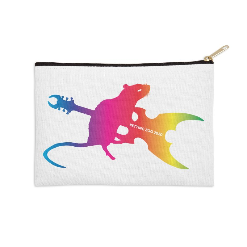 Petting Zoo 2020 Metal Rat 2 Rainbow Accessories Zip Pouch by Anapalana by Tona Williams Artist Shop