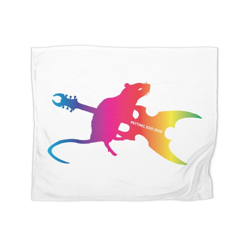 Petting Zoo 2020 Metal Rat 2 Rainbow Home Blanket by Anapalana by Tona Williams Artist Shop