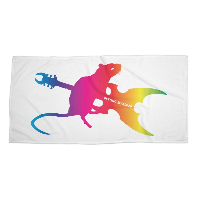 Petting Zoo 2020 Metal Rat 2 Rainbow Accessories Beach Towel by Anapalana by Tona Williams Artist Shop