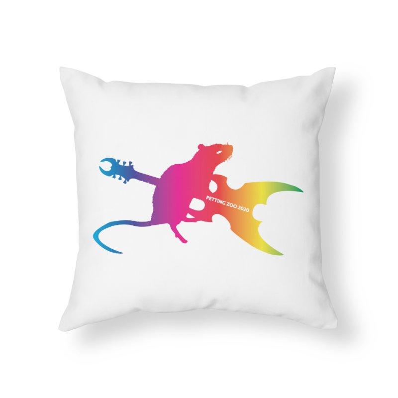 Petting Zoo 2020 Metal Rat 2 Rainbow Home Throw Pillow by Anapalana by Tona Williams Artist Shop