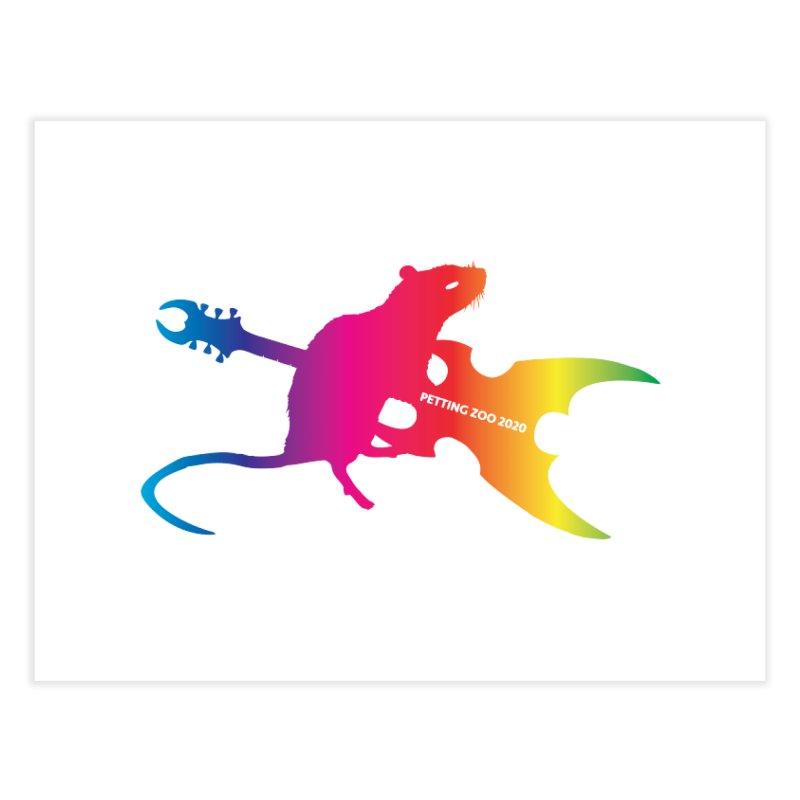 Petting Zoo 2020 Metal Rat 2 Rainbow Home Fine Art Print by Anapalana by Tona Williams Artist Shop