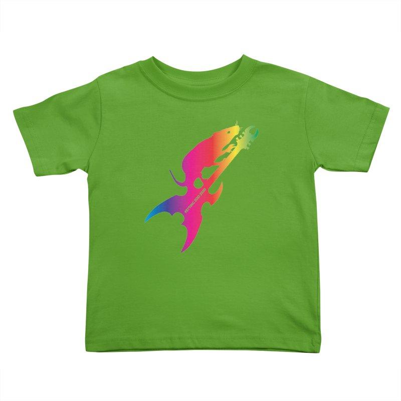 Petting Zoo 2020 Metal Rat 3 Rainbow Kids Toddler T-Shirt by Anapalana by Tona Williams Artist Shop