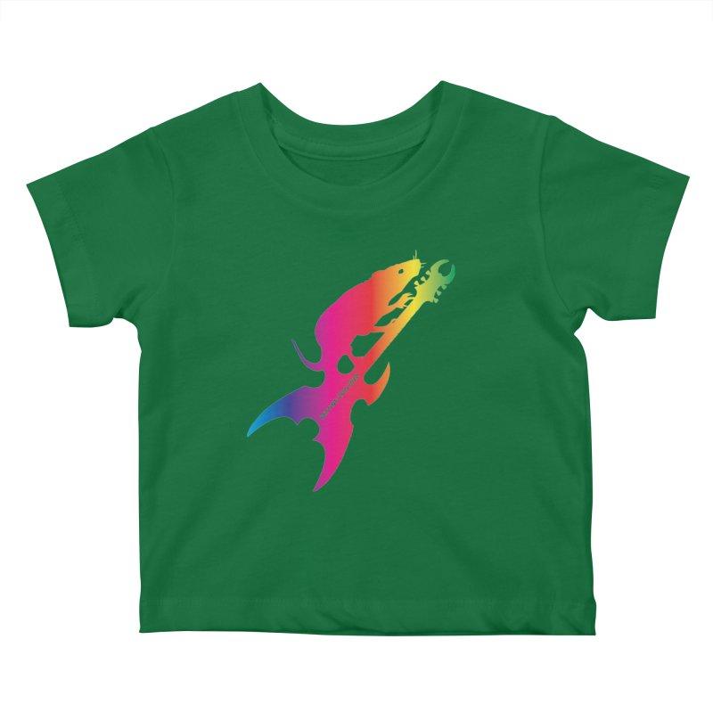 Petting Zoo 2020 Metal Rat 3 Rainbow Kids Baby T-Shirt by Anapalana by Tona Williams Artist Shop