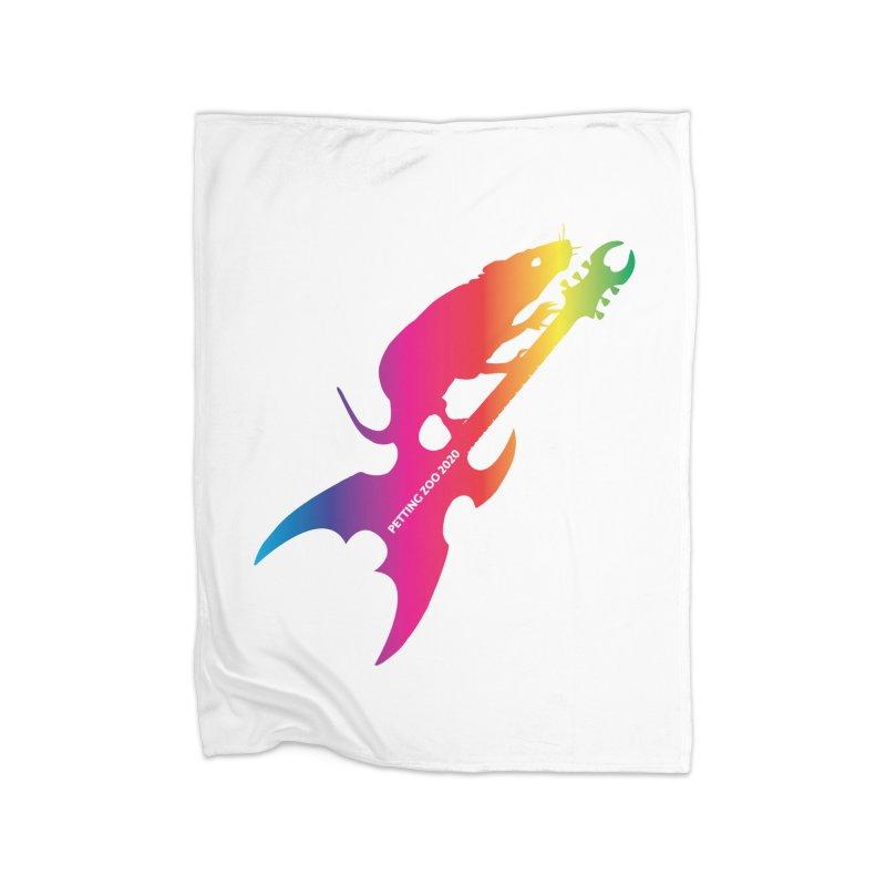 Petting Zoo 2020 Metal Rat 3 Rainbow Home Blanket by Anapalana by Tona Williams Artist Shop