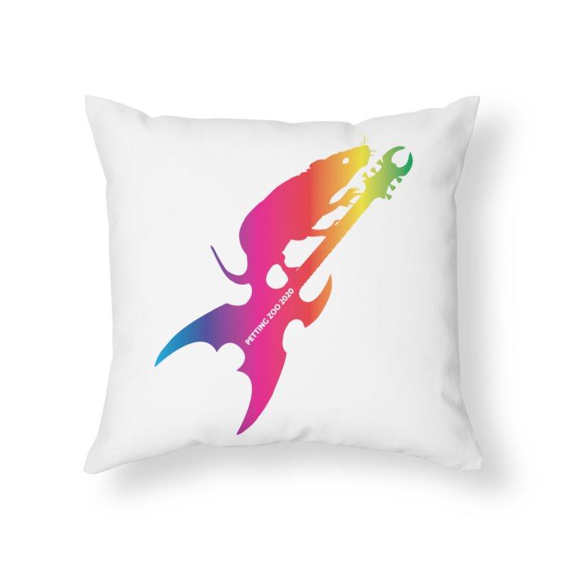 Petting Zoo 2020 Metal Rat 3 Rainbow Home Throw Pillow by Anapalana by Tona Williams Artist Shop