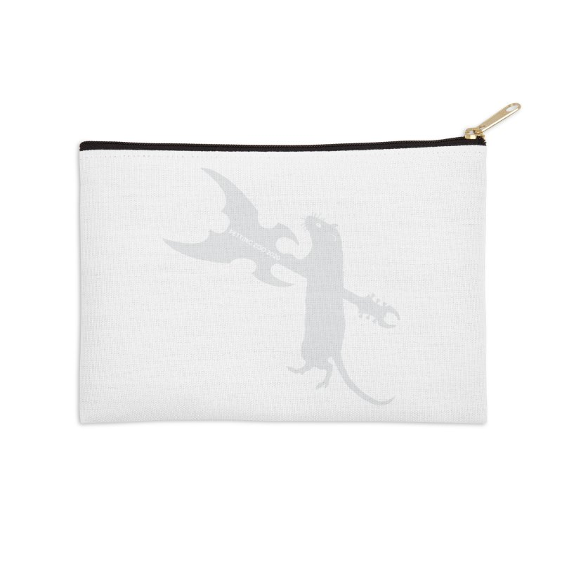 Petting Zoo 2020 Metal Rat 1 Light Accessories Zip Pouch by Anapalana by Tona Williams Artist Shop