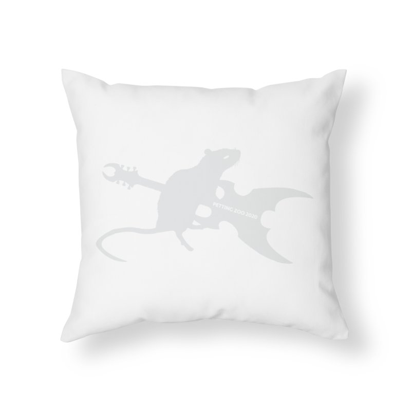 Petting Zoo 2020 Metal Rat 2 Light Home Throw Pillow by Anapalana by Tona Williams Artist Shop