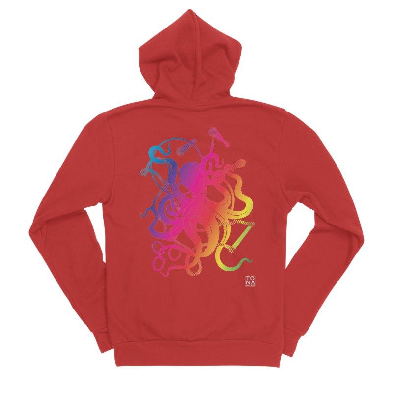 Rainbow Circus Octopus! Men's Zip-Up Hoody by Anapalana by Tona Williams Artist Shop