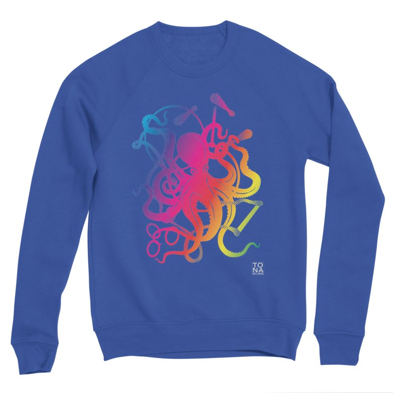 Rainbow Circus Octopus! Men's Sweatshirt by Anapalana by Tona Williams Artist Shop
