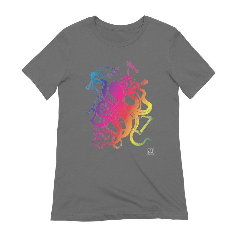 Rainbow Circus Octopus! Women's T-Shirt by Anapalana by Tona Williams Artist Shop