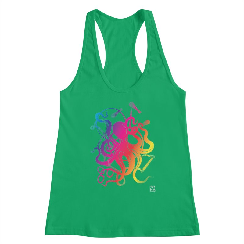 Rainbow Circus Octopus! Women's Tank by Anapalana by Tona Williams Artist Shop