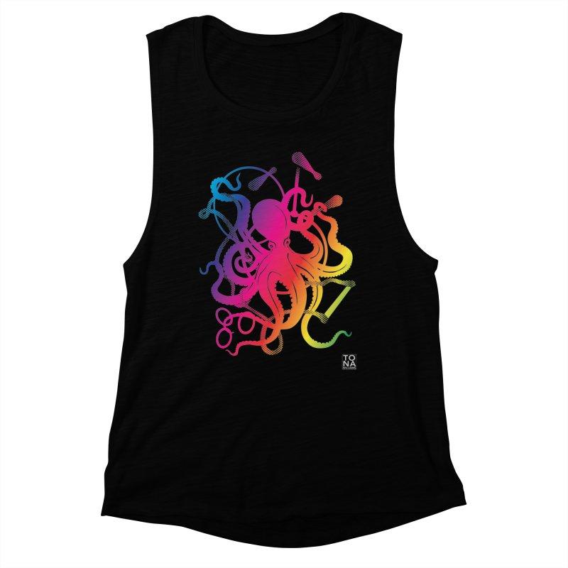 Rainbow Circus Octopus! Women's Tank by Anapalana by Tona Williams Artist Shop