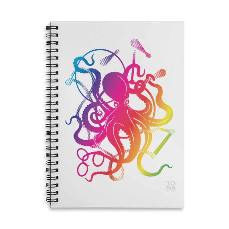 Rainbow Circus Octopus! Accessories Notebook by Anapalana by Tona Williams Artist Shop