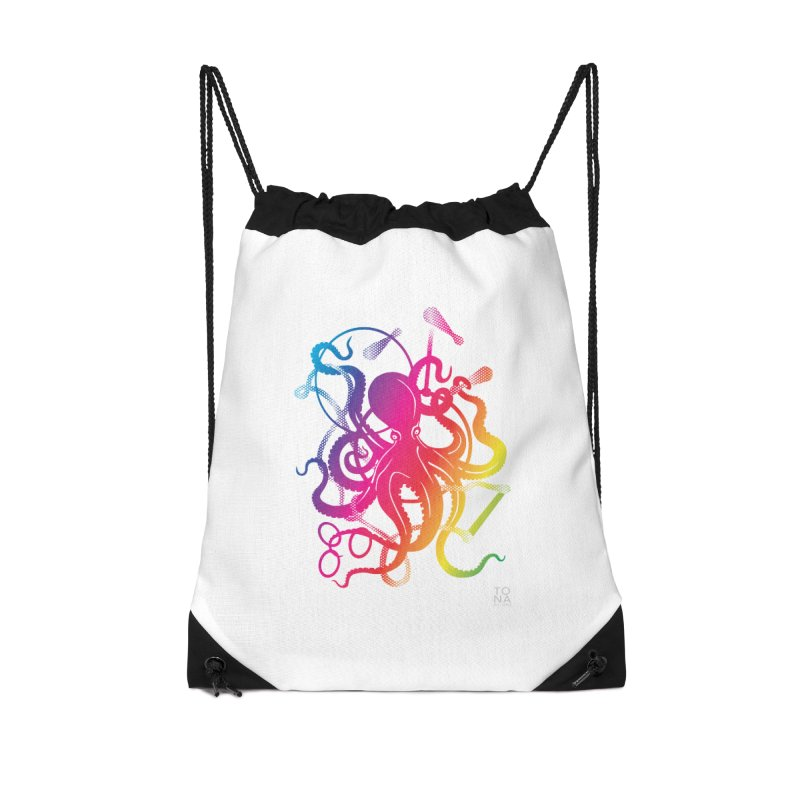 Rainbow Circus Octopus! Accessories Bag by Anapalana by Tona Williams Artist Shop