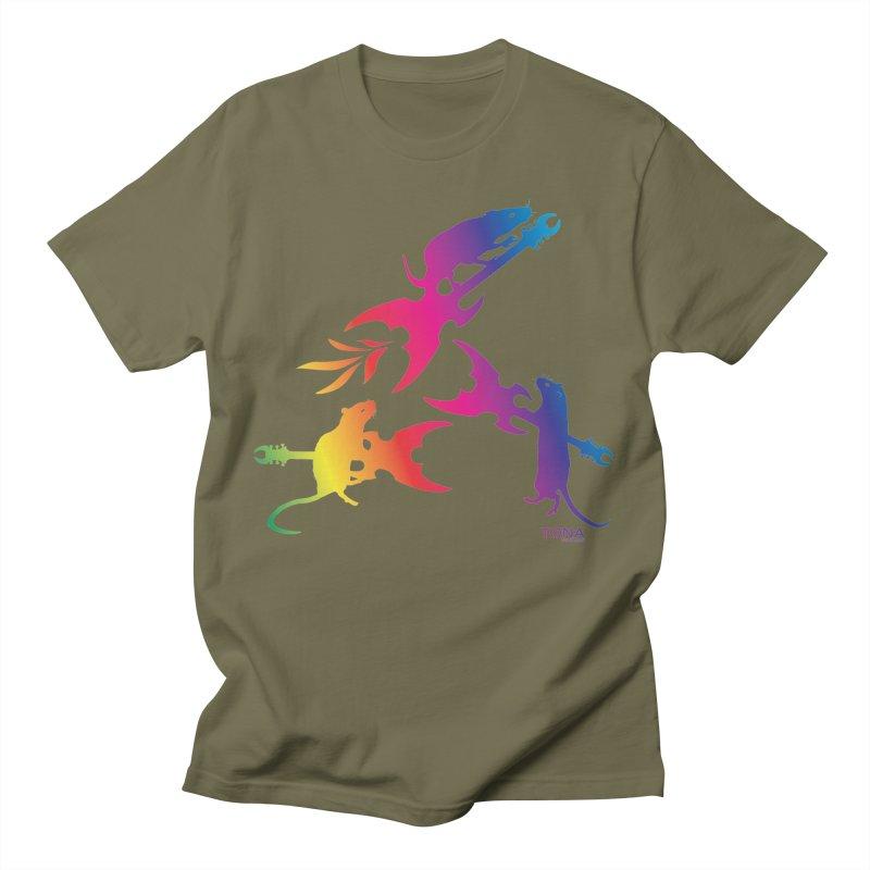 Rainbow Metal Rats Men's T-Shirt by Anapalana by Tona Williams Artist Shop