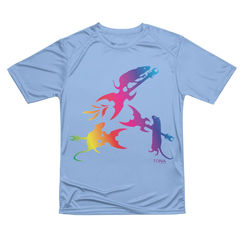 Rainbow Metal Rats Women's T-Shirt by Anapalana by Tona Williams Artist Shop
