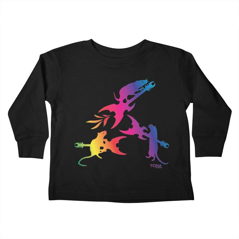 Rainbow Metal Rats Kids Toddler Longsleeve T-Shirt by Anapalana by Tona Williams Artist Shop
