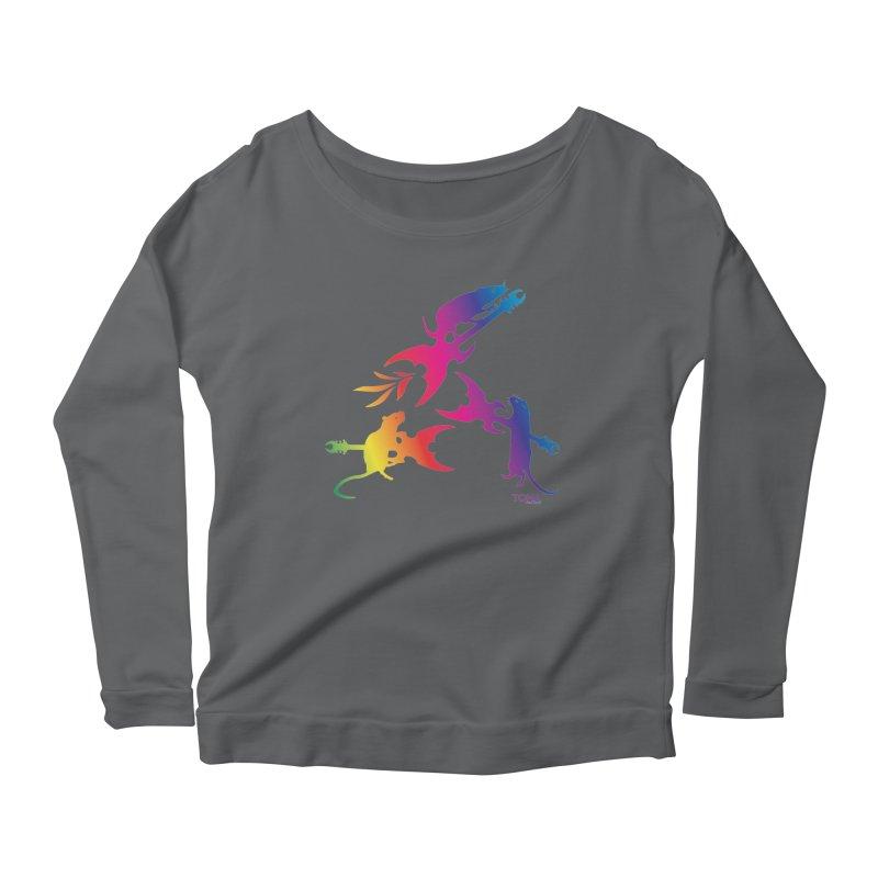 Rainbow Metal Rats Women's Longsleeve T-Shirt by Anapalana by Tona Williams Artist Shop
