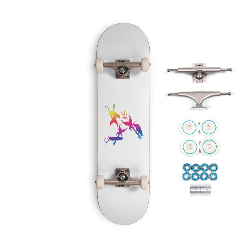Rainbow Metal Rats Accessories Skateboard by Anapalana by Tona Williams Artist Shop